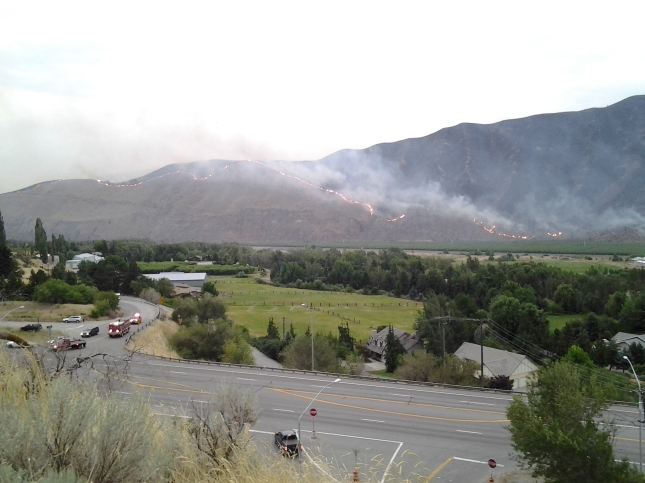 Fire Crews heading towards Wenatchee from Monitor